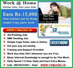 EARN RS.15000+ PER MONTH. WORK FROM HOME 1-2 HRS/DAILY. EASY ONL