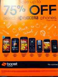 Boost cellphones up to 75% off