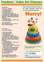Cake Baking & Fondant Cake Decoration Classes in Karachi