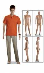 PE Full Body Mannequins For Male Fashion Or Sports Clothing Display