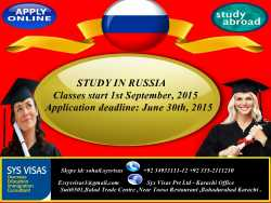 Study in Russia University