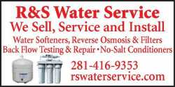 Reverse Osmosis Drinking Water Systems. RS Water Service  281-416-9353