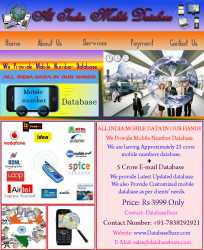 All India 25 Crore Mobile Numbers Database at Rs.3999 only