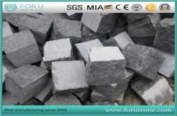 Natural Surface Basalt G684 Cobblestone Paving For Driveway Pavers