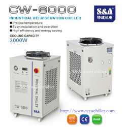 Water cooling system for 100W co2 RF laser CW-6000