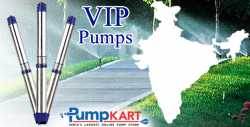 """Best Priced VIP 4"""" Submersible Single Phase Pumps Online in India"""