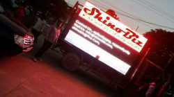led screen canter, L shape road show led video van,