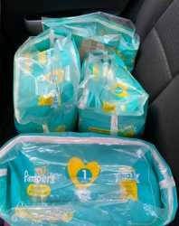 4 bags of diapers delivered