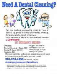 Cheap dental cleaning!
