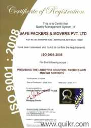 SAFE PACKERS AND MOVERS PVT. LTD.