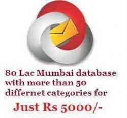 Buy 80 Lac Mumbai database for Just Rs 5000/-