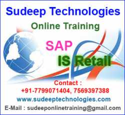 Sap Is Retail Online Training from India