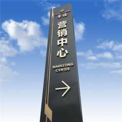 Outdoor Metal Pylon Monument LED Sign