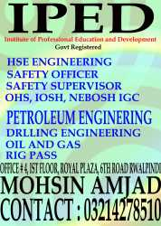 safety officer courses in Rawalpindi 03214278510, Islamabad, Pakistan