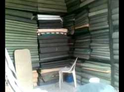 100%Water Proof green cotton canvas 40inch