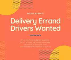 Now Hiring Delivery Drivers - Earn more with our driver referral program