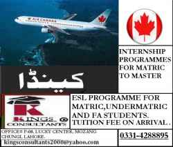 Canada Study Visa For Matric & Undermatric.