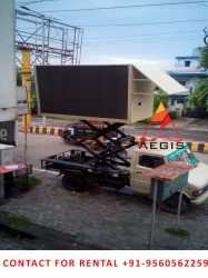 Truck mobile van led screen , led video wall, hording , promoters  etc on hire