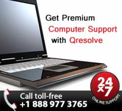 Call Qresolve at 1-888-977-3765 for instant on-demand computer support