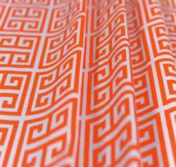 MBK Quad Key Sherbet Orange Cotton Home Fabrics