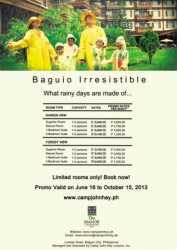 Irresistible Promo at The Manor Hotel Baguio