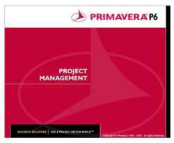 Primavera P6 Training in Lahore