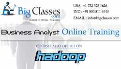 BigClasses offers Hadoop online training by very experienced trainer