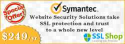 Inexpensive offer on all Symantec SSL products from theSSLshop.com