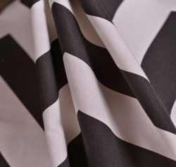 MBK Arrow Tip Stripe Black/White Cotton Home Fabrics
