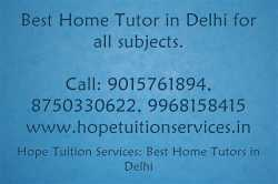 Home Tutor in Subroto Park, Delhi for Chemistry, Biology, Math, English, Physics