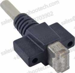 RJ 45 Vertical Scew Locking Molded Plug To RJ 45 Horizontal Screw Locking Molded Plug