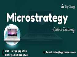 Microstrategy Online Training Regular and Fast track Batches