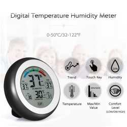 Touch Screen Temperature Hygrometer