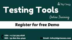 Testing Tools Online Training Regular and Fast track Batches