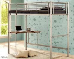 University Loftbed With Study Desk Metal Double Decker Bunk Bed In