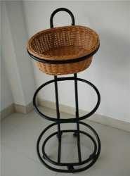 3 Tiers Basket Trolley On Wheels For Bakery Store Storage