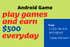 play game and earn $500 everyday
