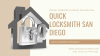 Hire a Trustworthy, Reliable Local locksmith San Diego